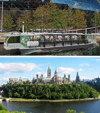 Canal Rideau et Explore Ottawa